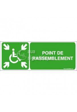 Panneau Point de Rassemblement Handicapé - B