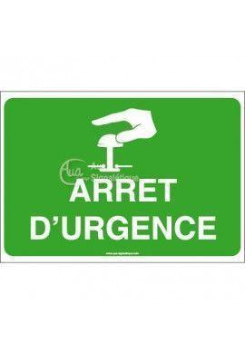 Panneau Arrêt d'urgence - AP