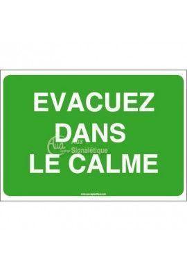 Panneau Evacuez dans le calme-AP