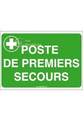Panneau Poste de premier secours avec picto - AP