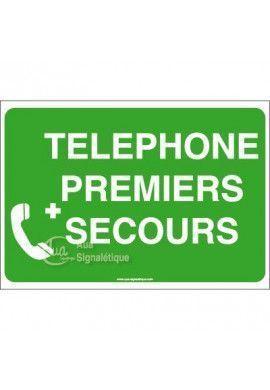 Panneau Téléphone premiers secours - AP