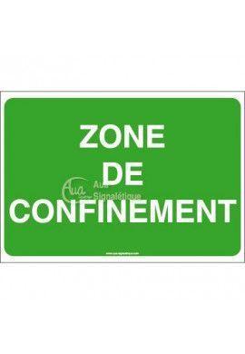 Panneau Zone de confinement - AP