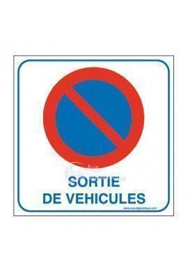 Panneau sortie de véhicules