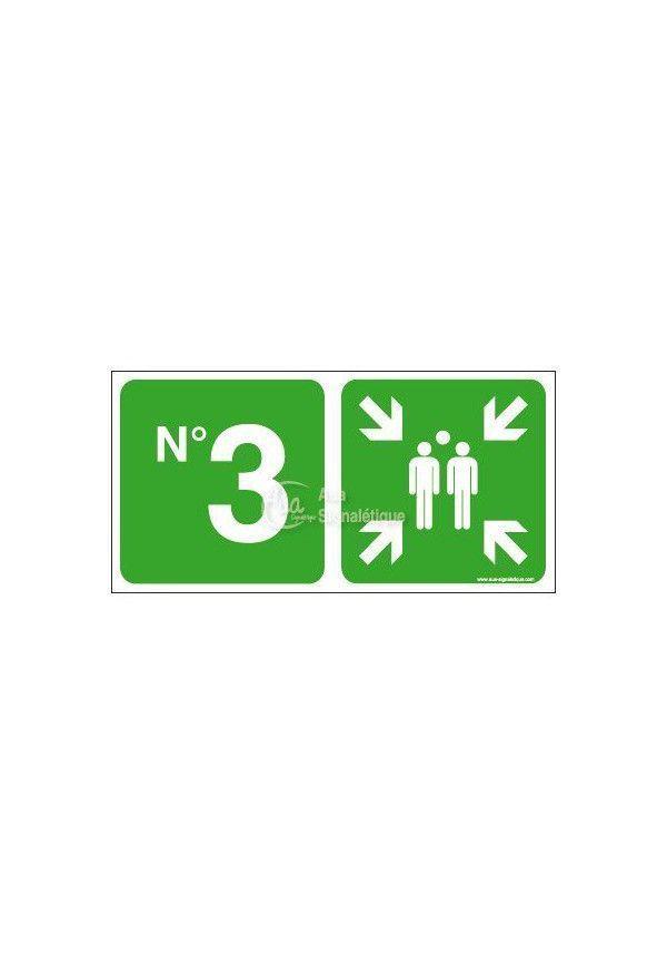 Panneau Point de rassemblement niveau 3-C