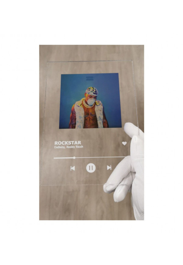 Plaque personnalisée Album Cadre SpotifySign Photo en acrylique plexiglass transparent