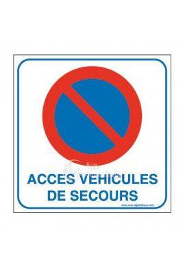 Panneau accès véhicules de secours