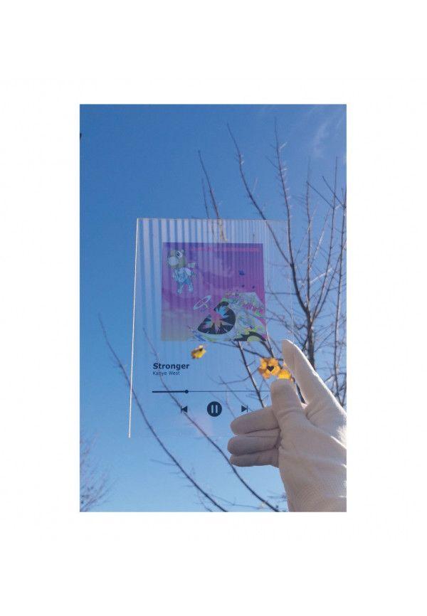 Plaque SPOTIFY Musique sans socle - écriture en NOIR personnalisée - Photo imprimée sur plexiglass transparent