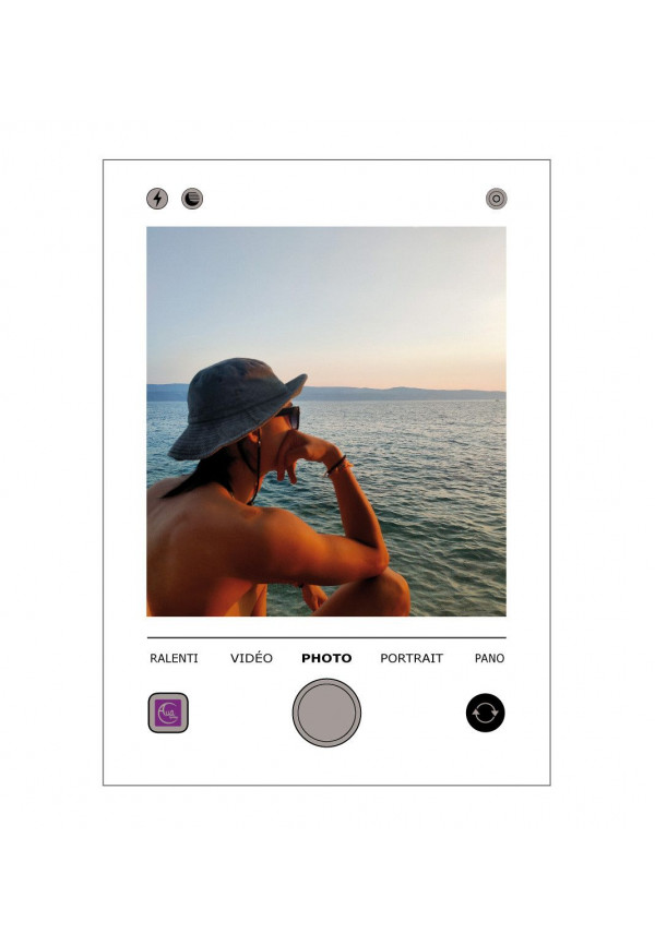 Plaque personnalisée Photo IPHONE - Photo en acrylique imprimée sur plexiglass transparent