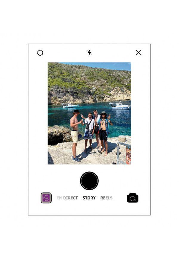Plaque INSTA Photo personnalisée sans socle - Photo imprimée sur plexiglass transparent