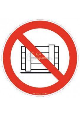 Panneau Ne Pas bloquer ou obstruer, ne pas stocker