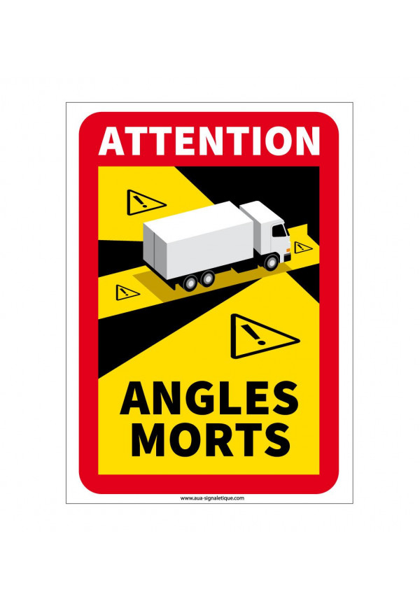Panneau signalisation des angles morts des véhicules lourds - Camion lourd