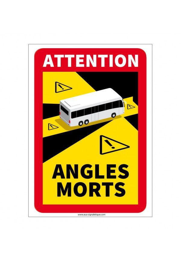 Panneau signalisation des angles morts des véhicules lourds - Autobus - Autocar