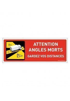 Panneau signalisation angles morts des véhicules lourds - Camion lourd - gardez vos distances