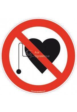 Panneau Accès interdit aux porteurs d'un stimulateur cardiaque