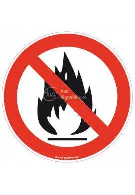 Panneau Flammes interdites