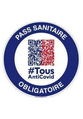 Panneau Pass Passeport sanitaire obligatoire QR code