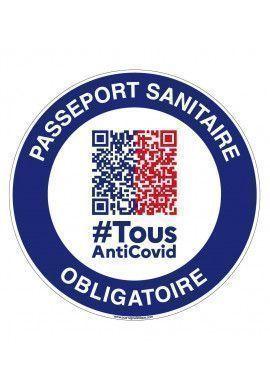 Panneau Passeport sanitaire obligatoire QR code