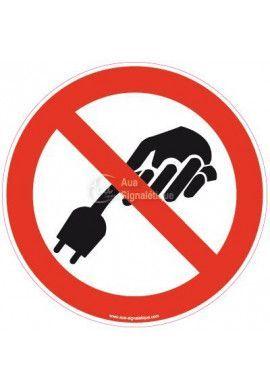 Panneau Ne pas tirer sur le cable