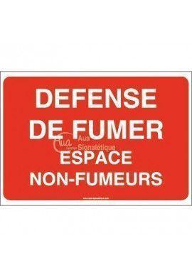Panneau Défense de fumer Espace non fumeurs-AP