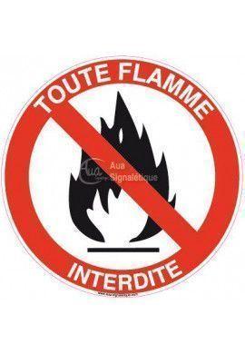 Panneau Flamme Interdite 02