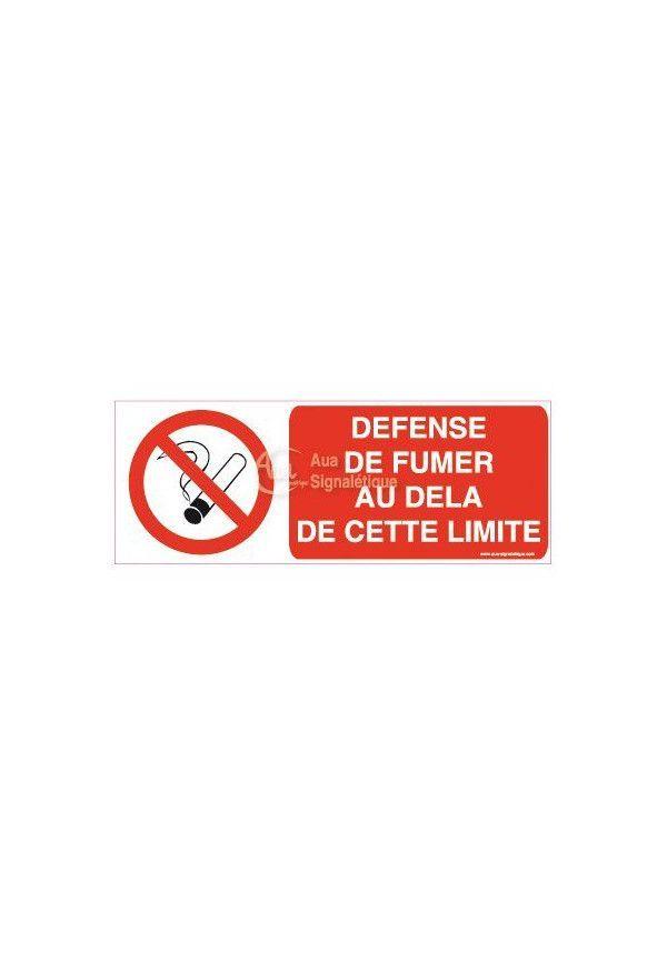 Panneau Défense de Fumer au delà de cette limite