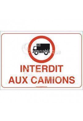 Panneau Interdit aux camions - AP