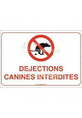 Panneau Déjections canines interdites - AP