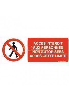 Panneau Accès Interdit Aux Personnes...