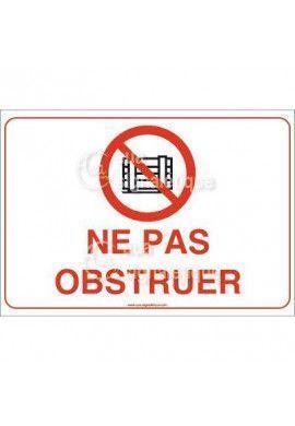 Panneau Ne Pas Obstruer - AP