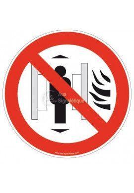 Panneau Ne pas utiliser les Ascenseurs en cas d'Incendie
