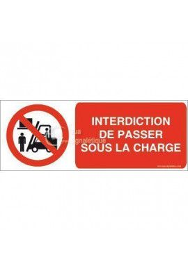 Panneau Interdiction de Passer sous la Charge 02