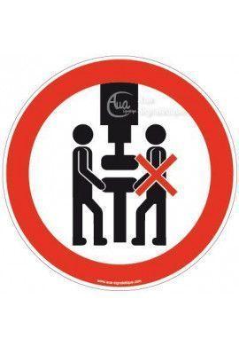 Panneau Interdiction de Travailler à 2 sur la Machine