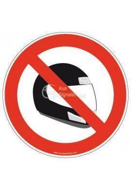 Panneau Interdiction au Casque