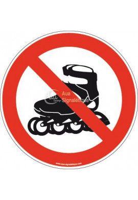 Panneau Interdiction aux Rollers