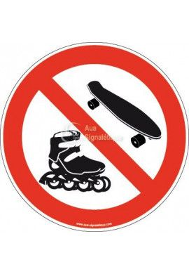 Panneau Interdiction aux Rollers & Skateboard