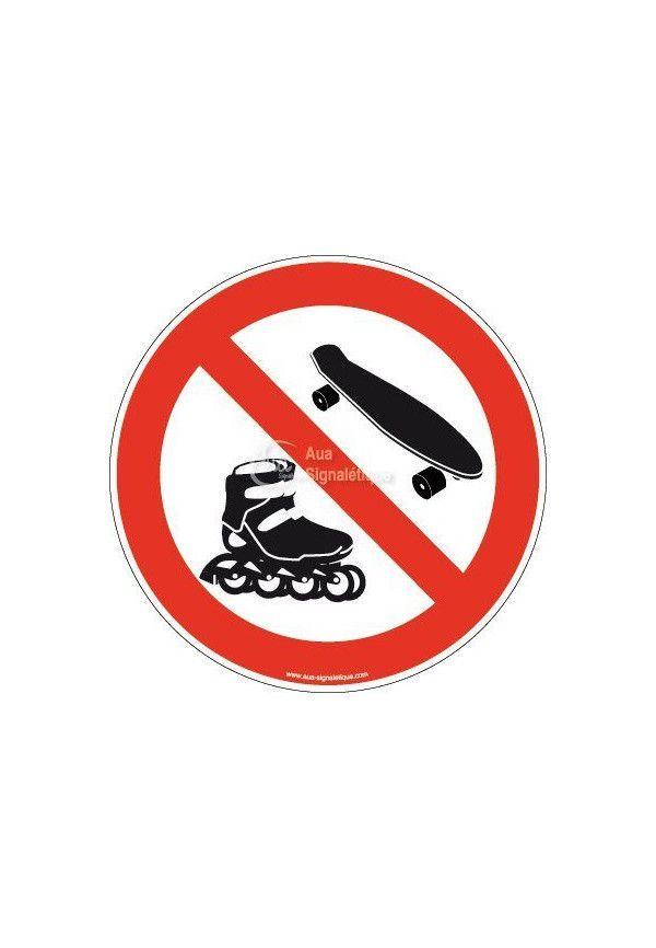Panneau Interdiction aux Rollers & Skateboard