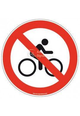 Panneau Cycliste interdit