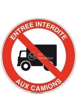 Panneau Entrée interdite aux camions
