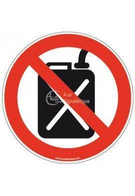 Panneau Vente d'essence au détail interdite