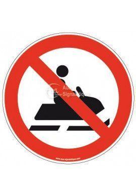 Panneau Motoneige interdit