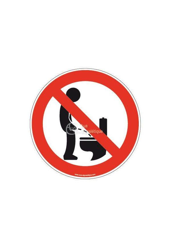 Panneau Uriner debout interdit