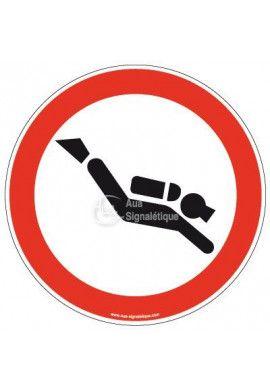 Panneau Plongée interdite