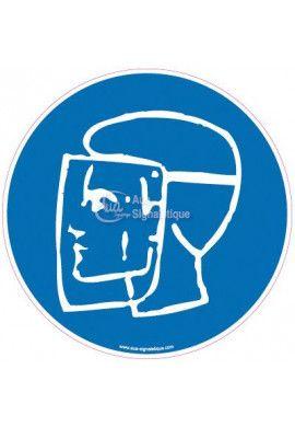 Panneau Protection obligatoire du visage