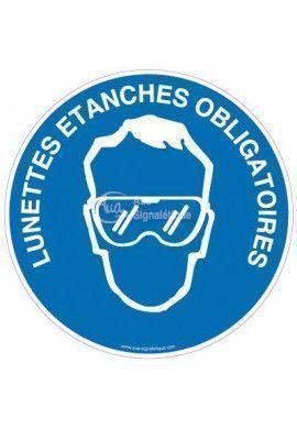 Panneau Lunettes Etanches Obligatoires