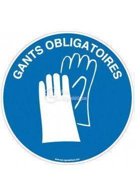 Panneau Gants Obligatoires