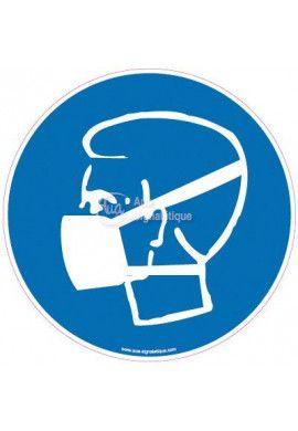 Panneau Protection obligatoire des voies respiratoires Modèle 2