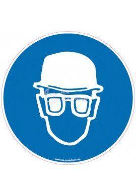Panneau Casque et lunettes obligatoires