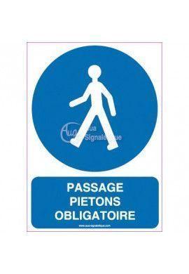 Panneau Passage obligatoire pour piétons Vertical