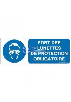 Panneau Port obligatoire des Lunettes de Protection