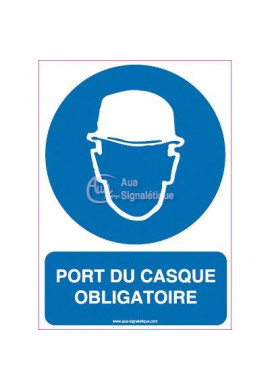 Panneau Port du Casque Obligatoire Vertical